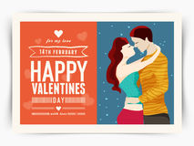 Greeting card design for Happy Valentines Day. Royalty Free Stock Image