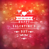 Greeting card design for Happy Valentines Day celebration. Royalty Free Stock Photo