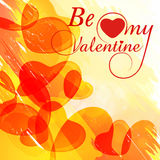 Greeting card design for Happy Valentines Day celebration. Stock Image