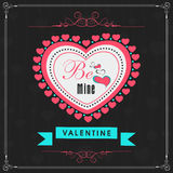 Greeting card design for Happy Valentines Day celebration. Stock Photo