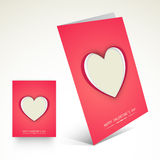 Greeting card design for Happy Valentines Day celebration. Stock Photography