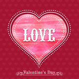 Greeting card design for Happy Valentines Day celebration. Royalty Free Stock Image