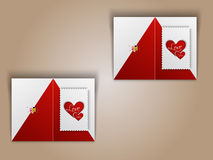 Greeting card design for Happy Valentines Day celebration. Stock Images