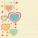 Greeting card design for Happy Valentines Day celebration. Royalty Free Stock Images