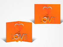 Greeting card design for Happy Valentines Day celebration. Royalty Free Stock Photography