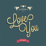Greeting card design for Happy Valentines Day celebration. Stock Photos