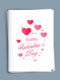 Greeting card design for Happy Valentines Day. Royalty Free Stock Photography