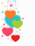 Greeting card design for Happy Valentines Day. Stock Image