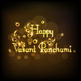 Greeting card design for Happy Vasant Panchami. Stock Image