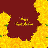 Greeting card design for Happy Vasant Panchami. Royalty Free Stock Photos