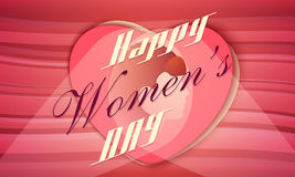 Greeting card design for Happy Womens Day celebration. Stock Photos