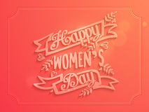 Greeting card design for Happy Women's Day. Stock Image