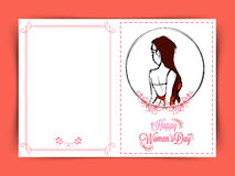 Greeting card design for Happy Women's Day. Stock Images