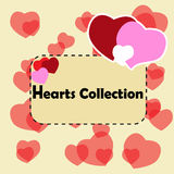 Greeting card design with hearts collection. St. Valentine's Day Stock Photos