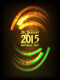 Greeting card design for Indian Republic Day celebration. Stock Photos