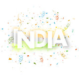 Greeting card design for Indian Republic Day celebration. Royalty Free Stock Images