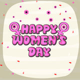 Greeting card design for International Womens Day celebration. Royalty Free Stock Image