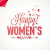 Greeting card design for International Women's Day celebration. Stock Image