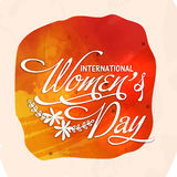 Greeting card design for International Women's Day. Royalty Free Stock Photography