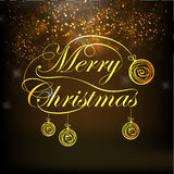Greeting card design for Merry Christmas celebration. Stock Images