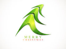 Greeting card design for Merry Christmas celebration. Royalty Free Stock Photography