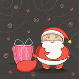 Greeting card design for Merry Christmas celebrations. Royalty Free Stock Image