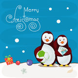 Greeting card design for Merry Christmas celebrations. Stock Photography