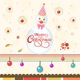 Greeting card design for Merry Christmas celebrations. Royalty Free Stock Photo