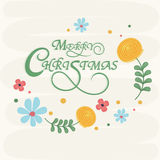 Greeting card design for Merry Christmas celebrations. Stock Images