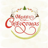 Greeting card design for Merry Christmas celebrations. Stock Photos