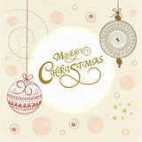 Greeting card design for Merry Christmas celebrations. Royalty Free Stock Images