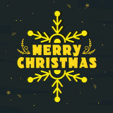 Greeting card design for Merry Christmas. Stock Photography