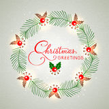 Greeting card design for Merry Christmas. Stock Photo