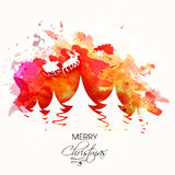 Greeting card design for Merry Christmas. Stock Image