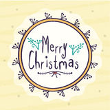 Greeting card design for Merry Christmas. Royalty Free Stock Image