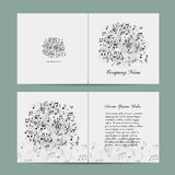 Greeting card design, music template Stock Photography