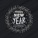 Greeting card design for New Year celebration. Royalty Free Stock Photo
