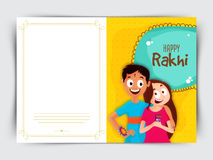 Greeting Card design for Raksha Bandhan Festival. Stock Photo