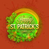 Greeting card design for St. Patricks Day celebration. Royalty Free Stock Photos