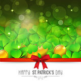 Greeting card design for St. Patricks Day celebration. Stock Photos