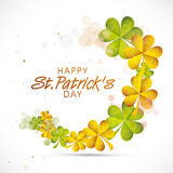 Greeting card design for St. Patricks Day celebration. Stock Images