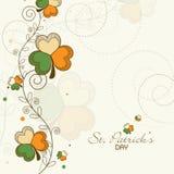 Greeting card design for St. Patrick's Day celebration. Stock Photo