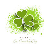 Greeting card design for St. Patrick's Day celebration. Royalty Free Stock Image