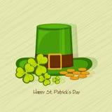 Greeting card design for St. Patricks Day celebration. Stock Photo