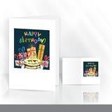 Greeting Card Design, Template Stock Images