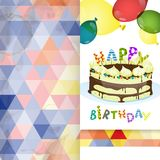 Greeting Card Design, Template. Colorful Birthday Background. Greeting Card Design, Template. Vector Illustration royalty free illustration