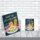 Greeting Card Design, Template Stock Photo