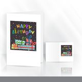 Greeting Card Design, Template Royalty Free Stock Photo