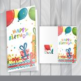 Greeting Card Design, Template. Colorful Birthday Background. Greeting Card Design, Template. Vector Illustration Stock Photos