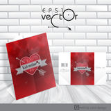 Greeting Card Design, Template. Happy Valentines D Royalty Free Stock Photo
